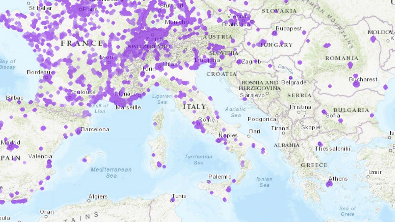 Dove è installato il 5G in Italia? La mappa delle antenne