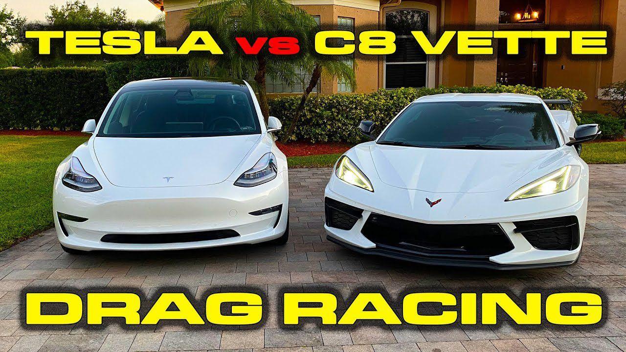 Drag Race tra Tesla Model 3 e la nuova Chevrolet Corvette ...