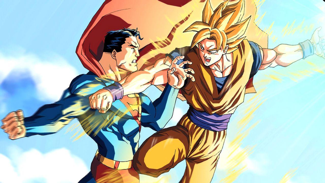 Dragon Ball: Goku e Superman si sfidano nello sketch di un famoso artista DC Comics
