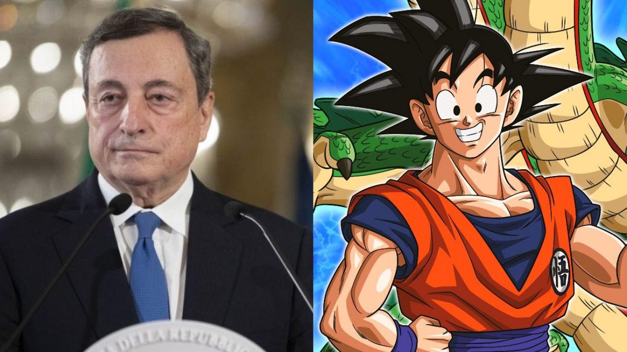 Dragon Ball invade la politica: Mario Draghi è Goku nella nuova copertina di Panorama!