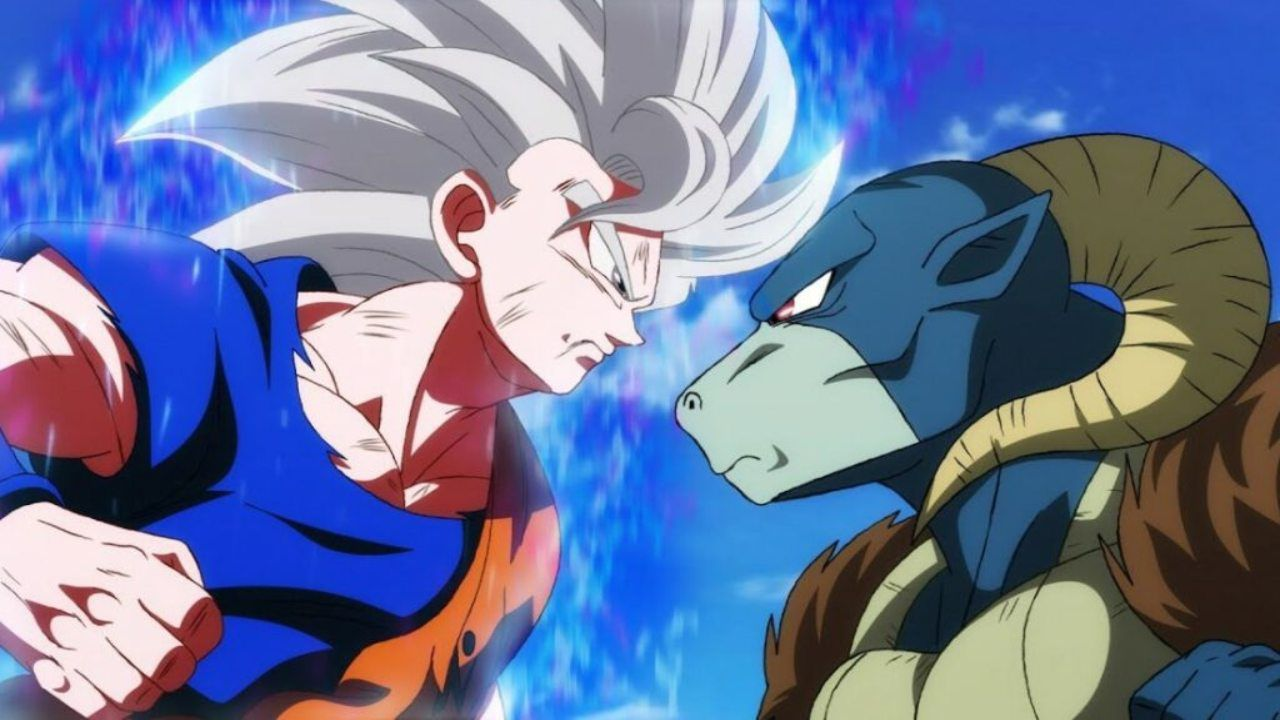 Dragon Ball Super: Goku e Molo si sfidano in una vignetta a colori