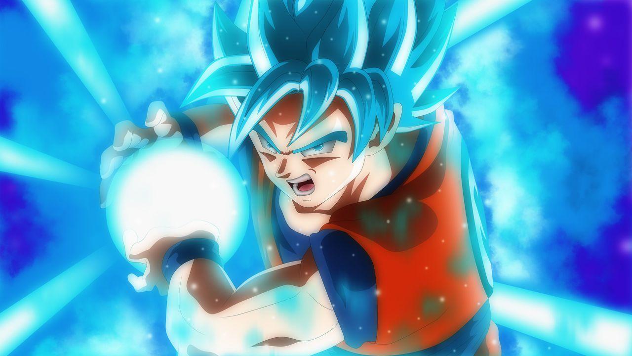 Dragon Ball Super: Goku SSJ Blue lancia la sua Kamehameha nella statuetta di Banpresto