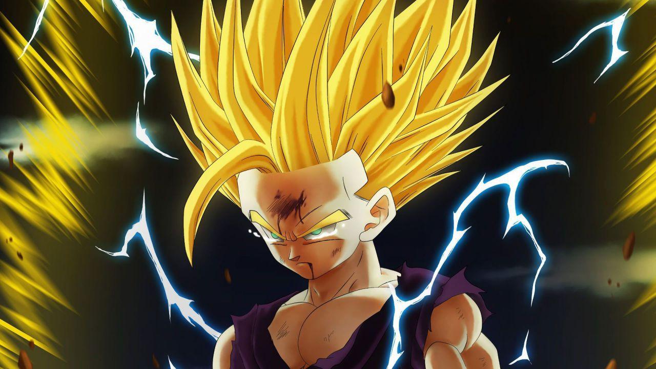 Dragon Ball Z: il terrore di un Cell Jr. contro Gohan in prima persona in questa fan art