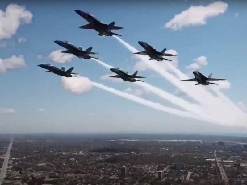 Drone riprende i Blue Angels rischiando enormemente: la FAA investiga