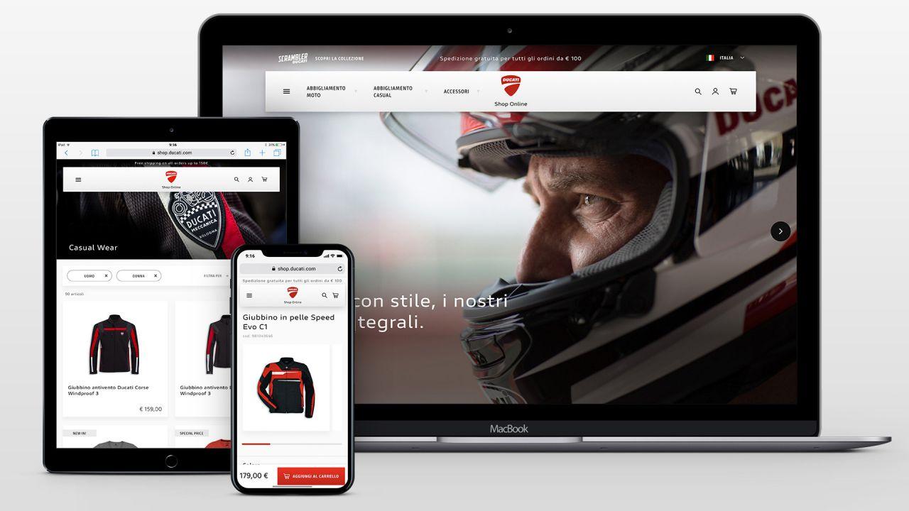 Ducati inaugura il nuovo e-shop: servirà 34 Paesi nel mondo in 5 lingue