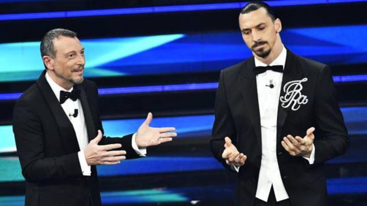 E' subito Ibrahimovic show a Sanremo 2021: 'è un onore avermi qui'