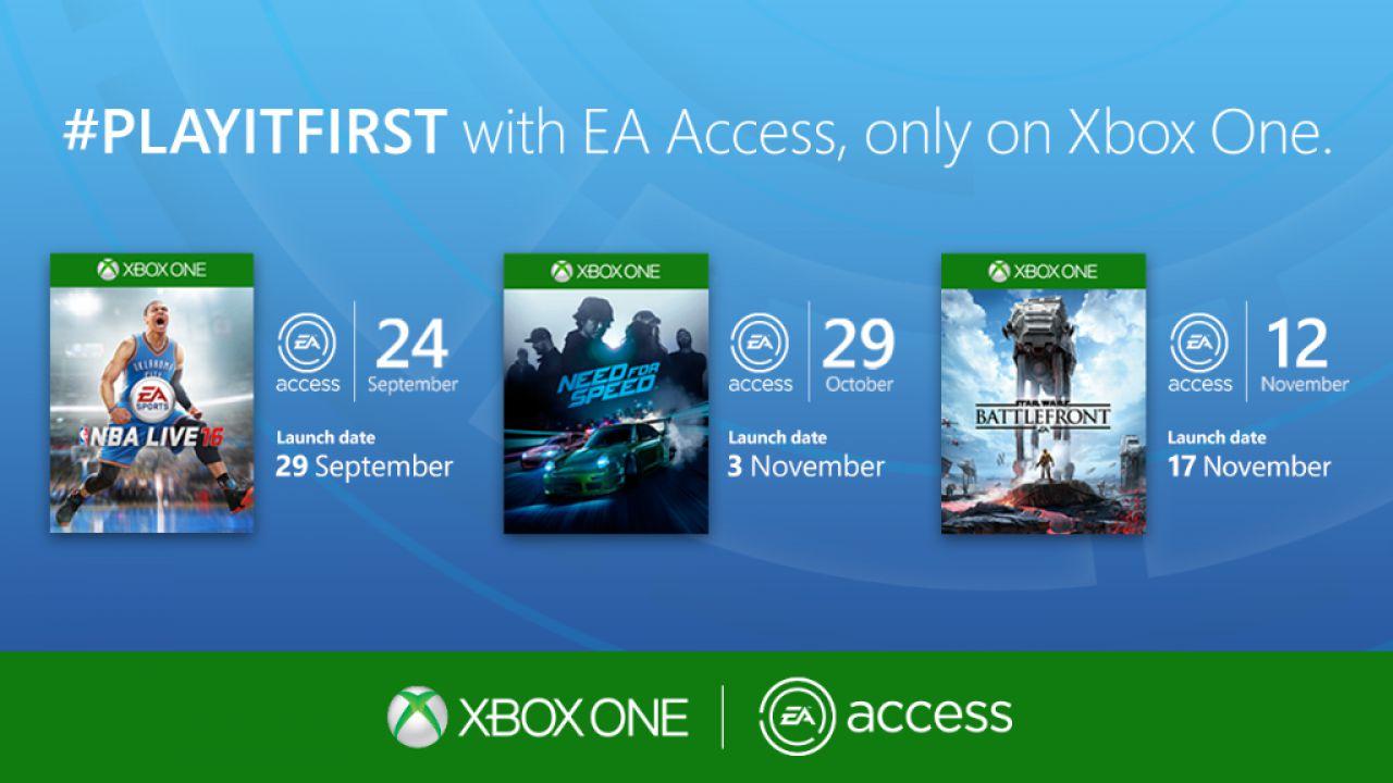 EA Access: accesso anticipato per NBA Live, Need for Speed e Star Wars Battlefront