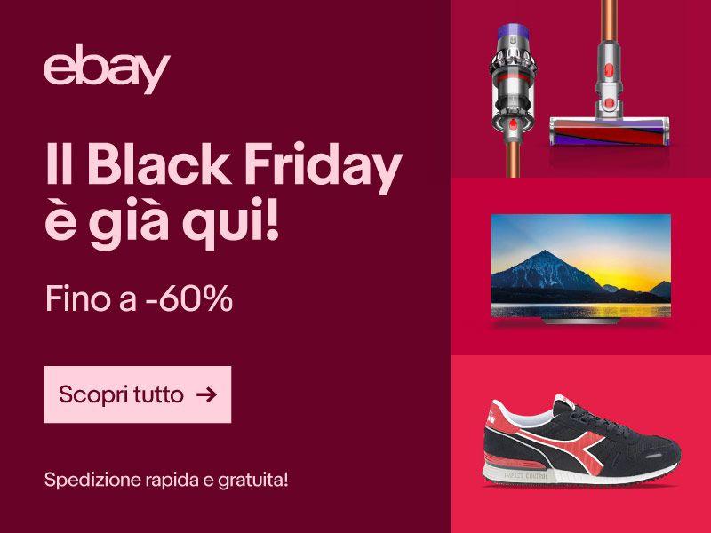 7958cf93319ef7 eBay Black Friday: sconti su console, videogiochi, smartphone, monitor  gaming e TV 4K