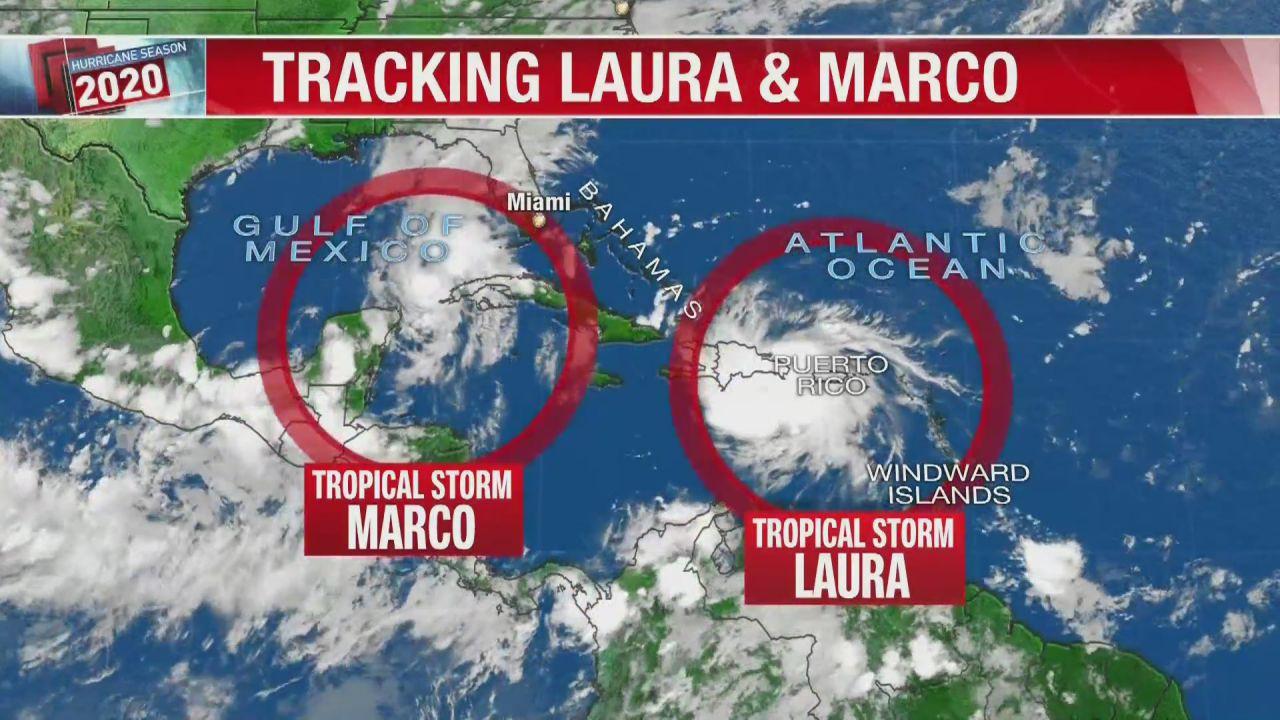 Ecco come appaiono le tempeste tropicali Marco e Laura dallo spazio