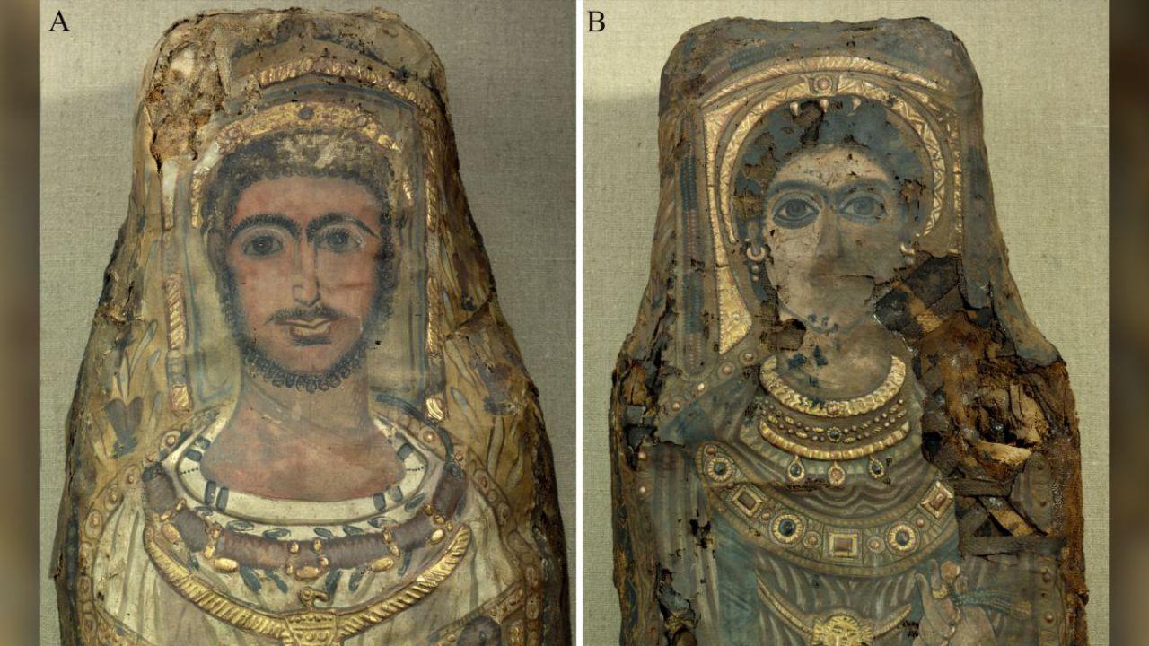 Ecco cosa si cela dentro due mummie egizie trovate nel 1615