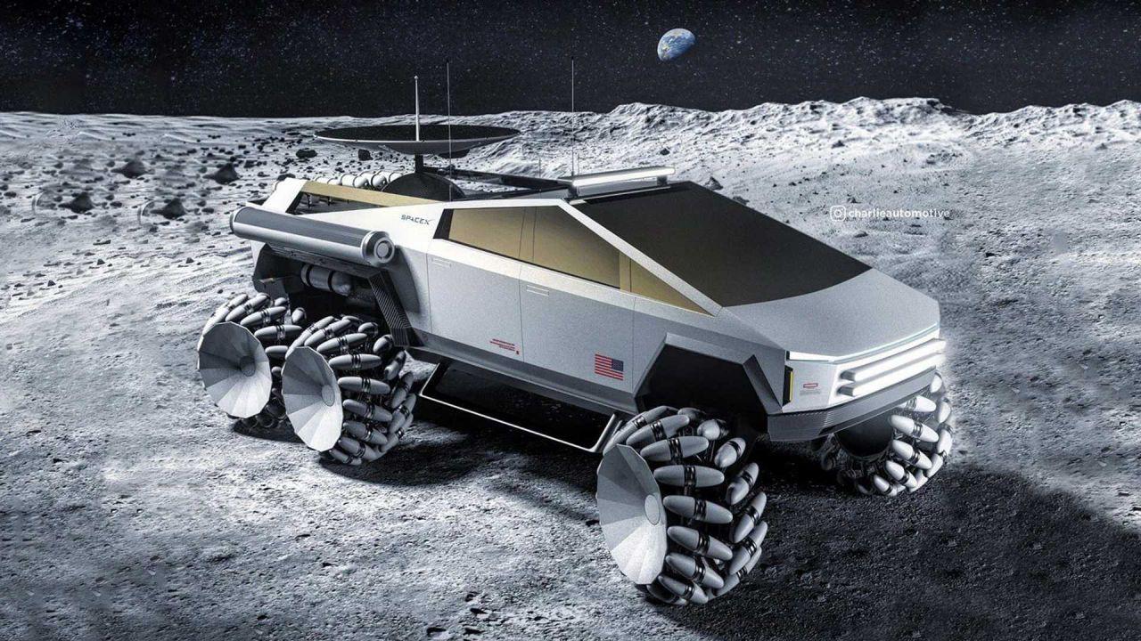 Ecco il perfetto Tesla Cybertruck per una missione sulla Luna