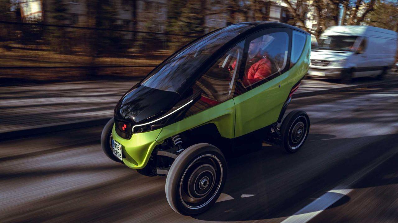 Ecco la Triggo: un'auto elettrica leggera e ripiegabile