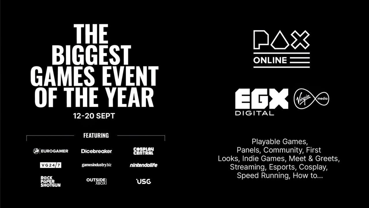 EGX e PAX Online si fondono in un mega-evento digitale in arrivo a settembre