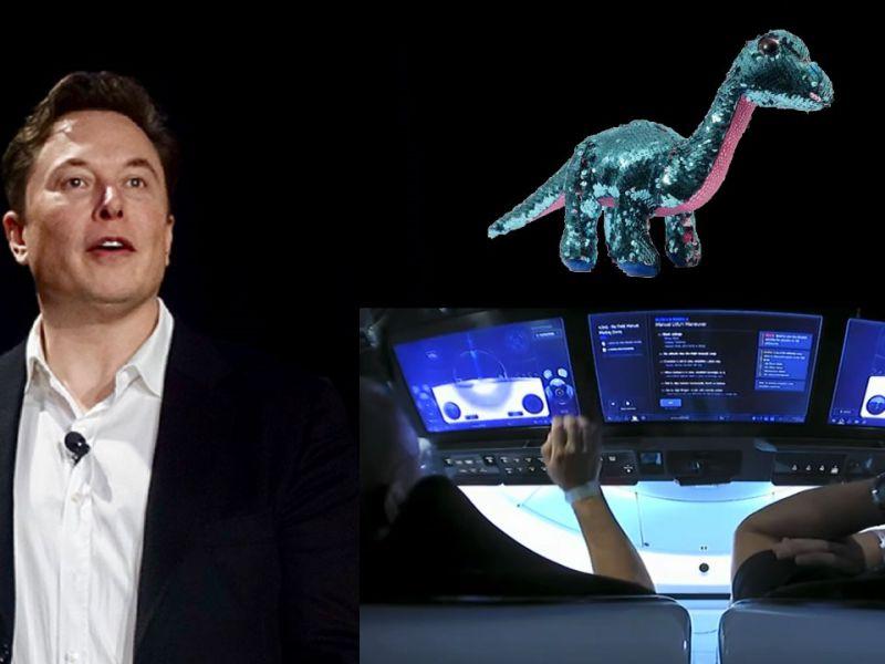 Elon Musk e il 'tocco' di SpaceX: dal dinosauro giocattolo al touchscreen