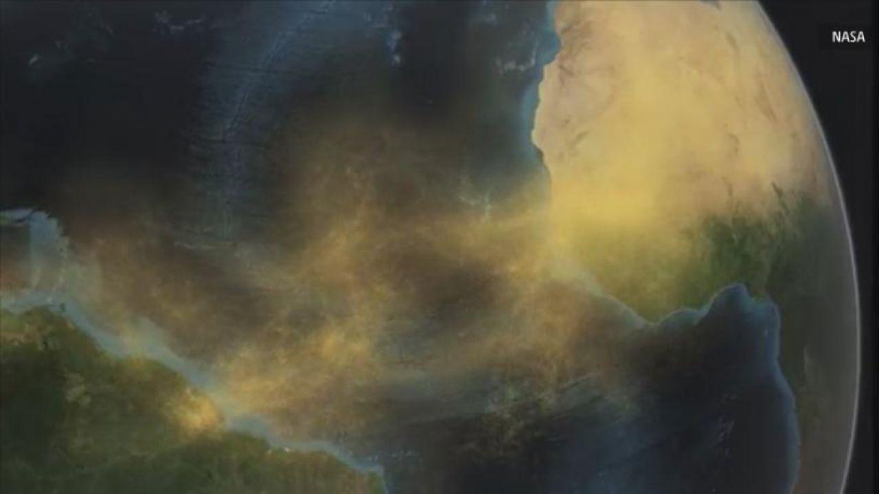 Enormi quantità di sabbia del Sahara individuati dallo spazio