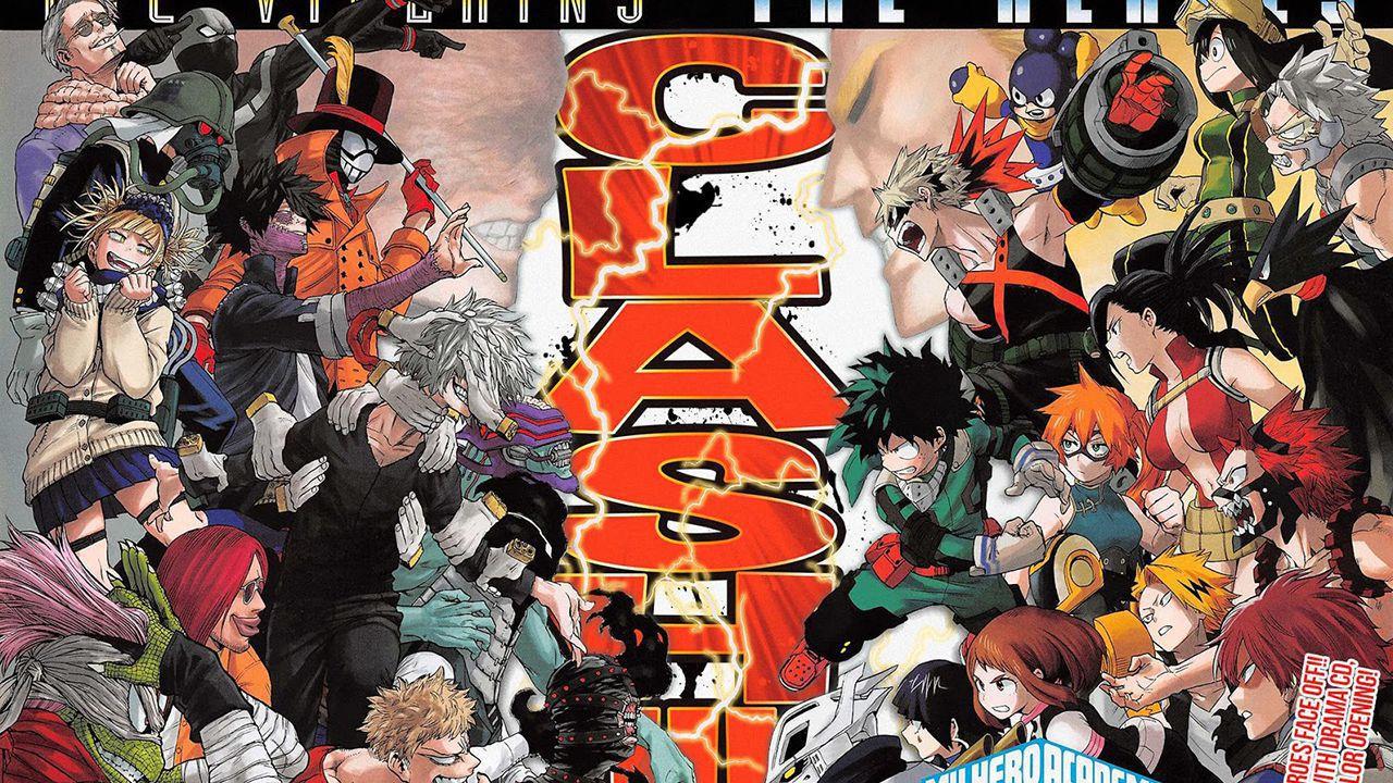 Eroi e villain ancora contro: l'emozionante My Hero Academia 265 è su Mangaplus