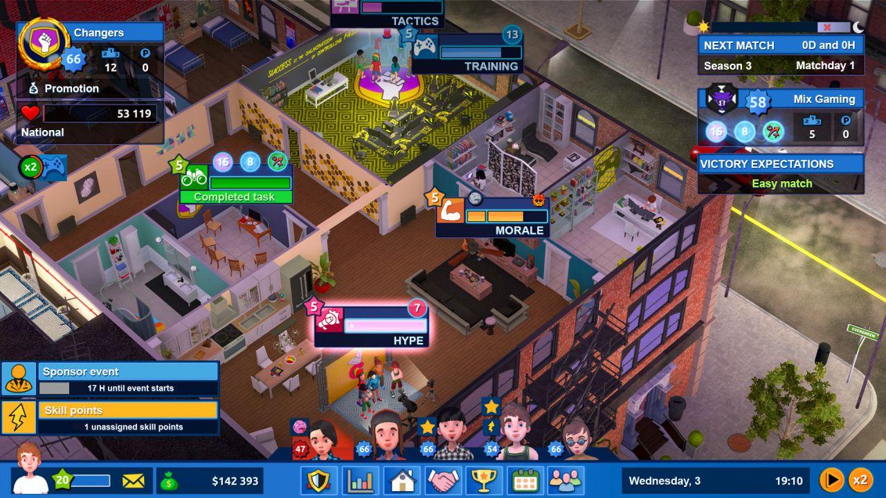 Esports Life Tycoon debutta su Steam ed è scontato del 20% al lancio