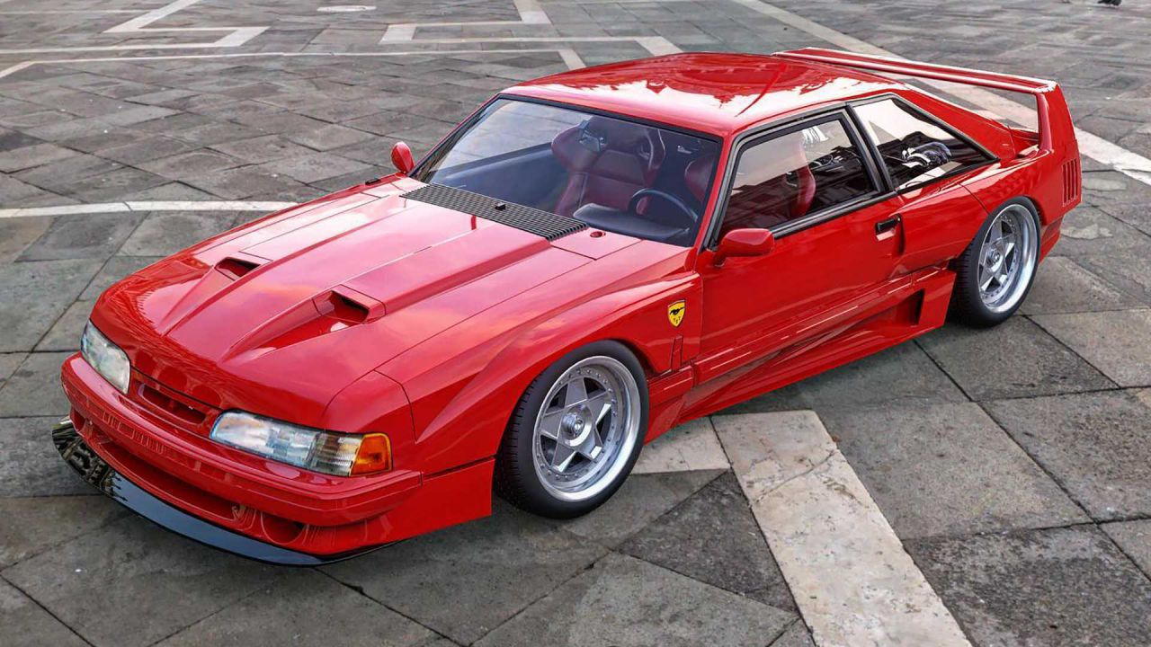 F40xbody: la Ferrari F40 incontra la Ford Mustang in questo assurdo ibrido