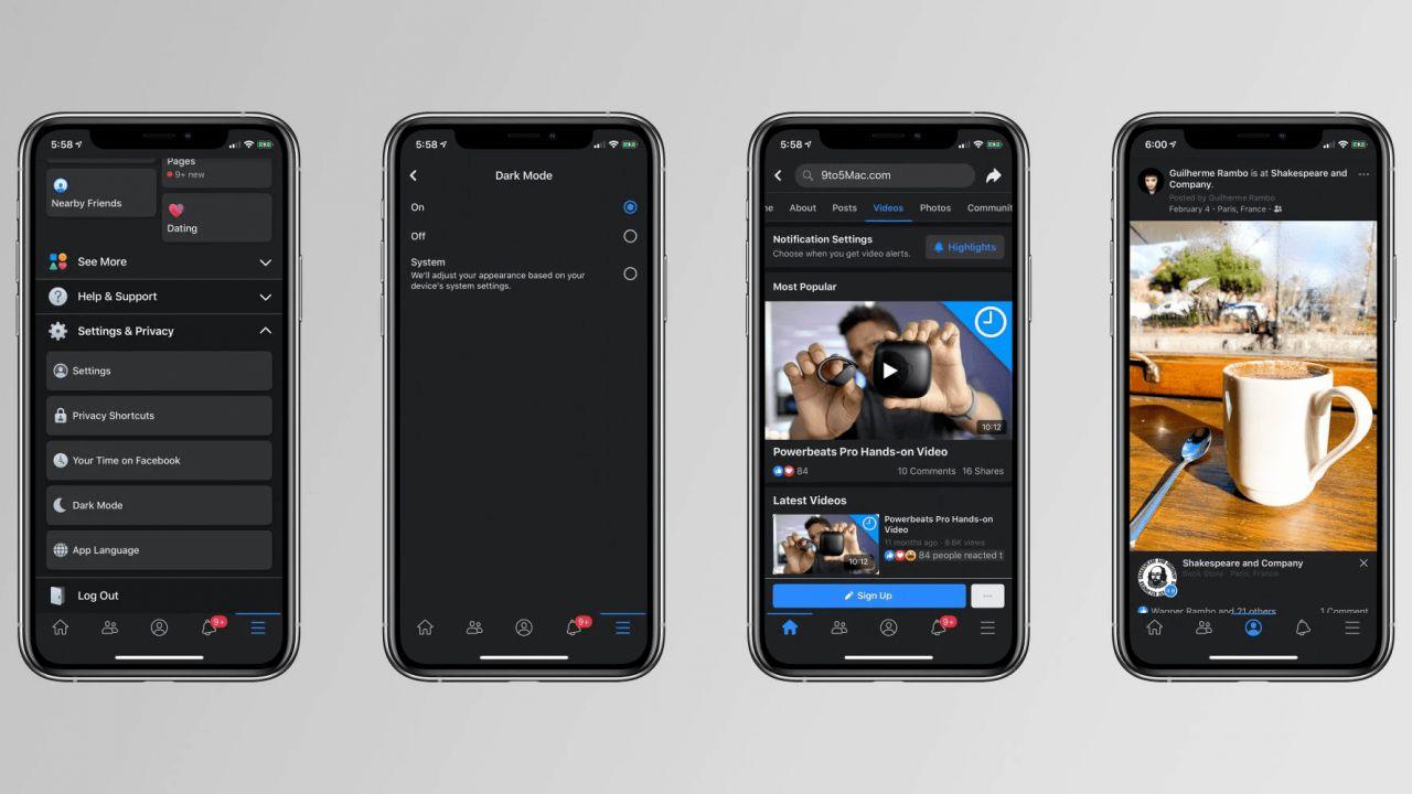 Facebook, dopo Android anche l'app per iOS avrà la Dark Mode