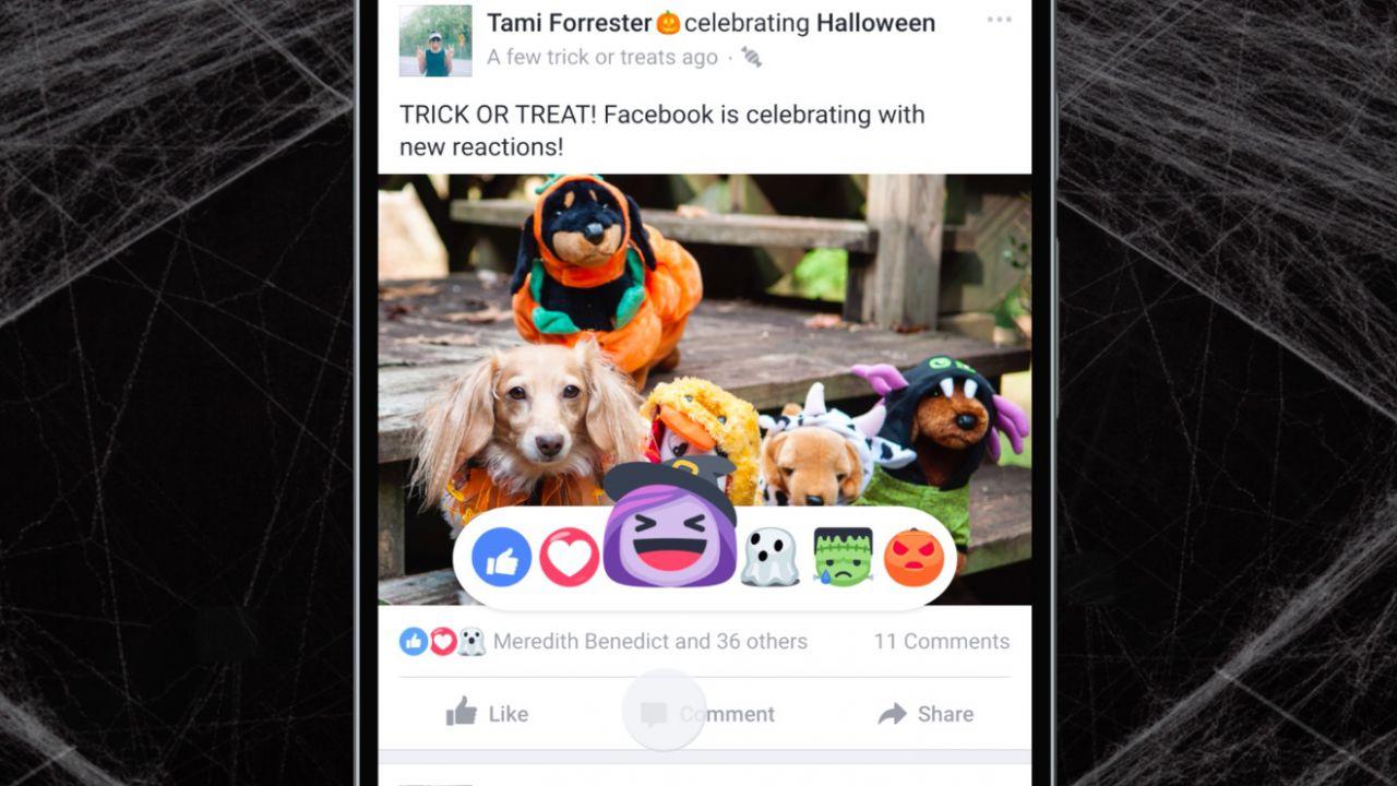Facebook: arrivano i filtri di Halloween per i Live