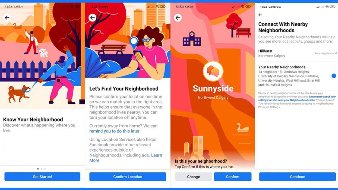 Facebook, in arrivo la feature 'Vicinato' per chattare solo con chi vive vicino casa tua