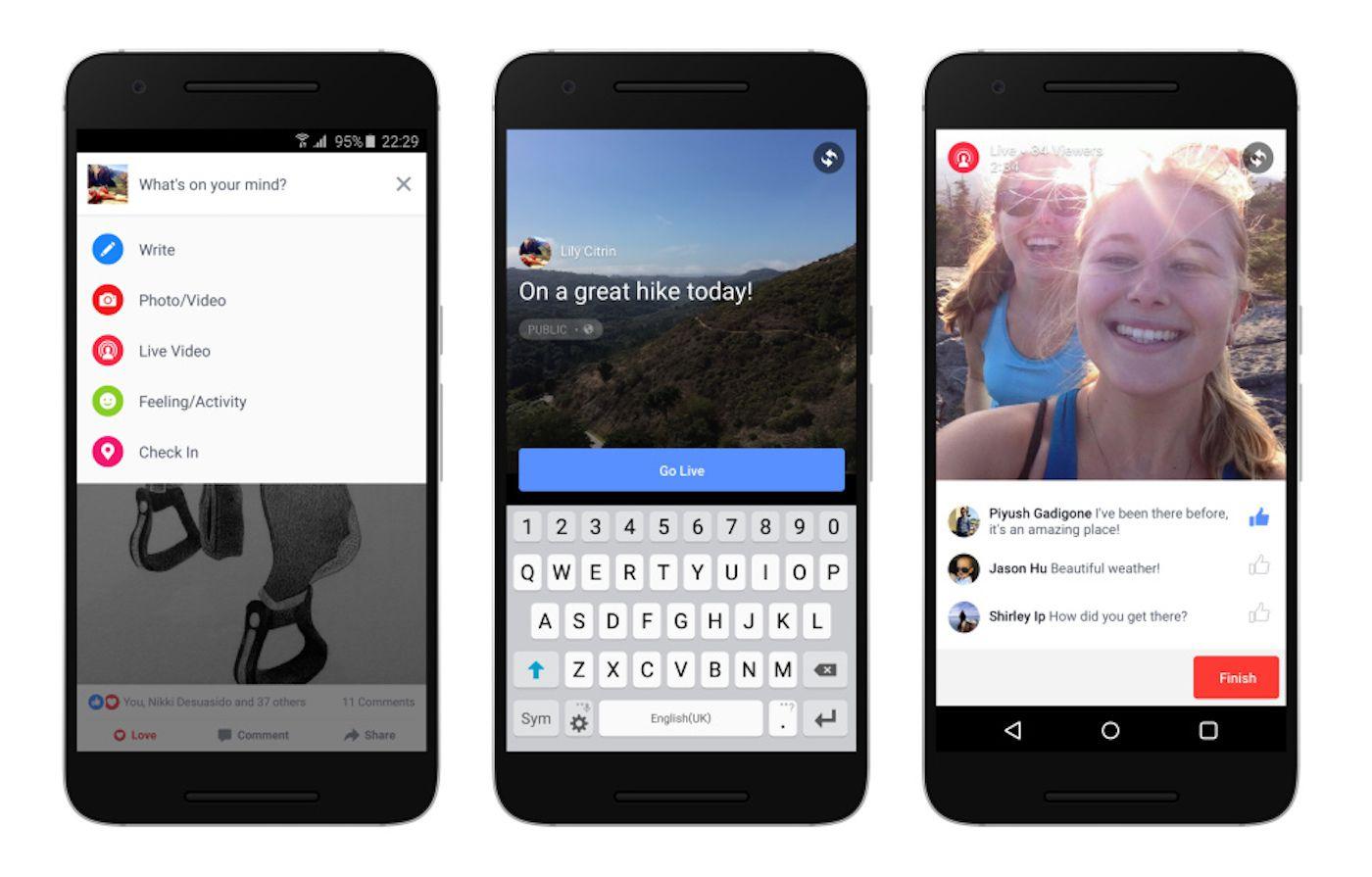 Facebook: i Live Video arrivano su Android