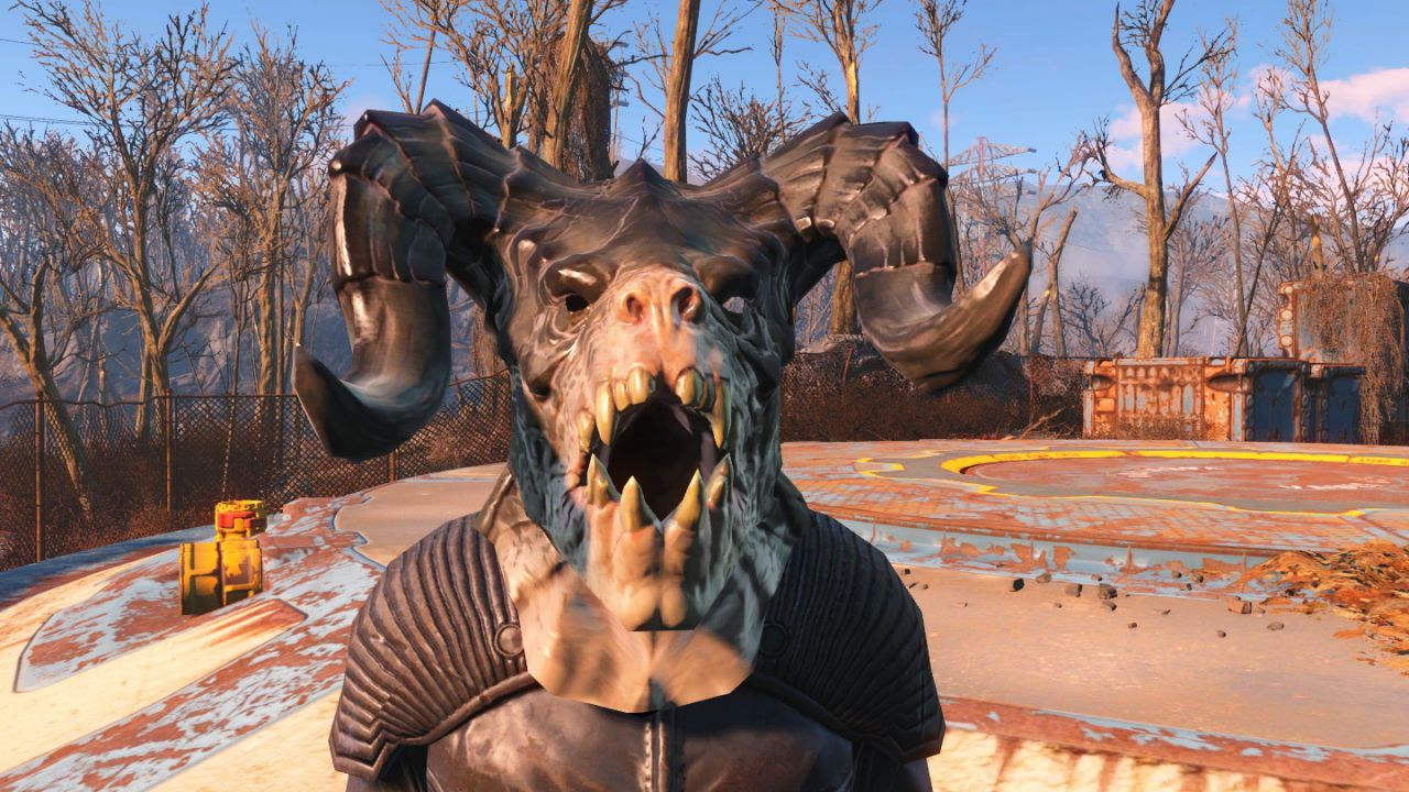 Fallout 4: una mod introduce la maschera di Deathclaw da indossare