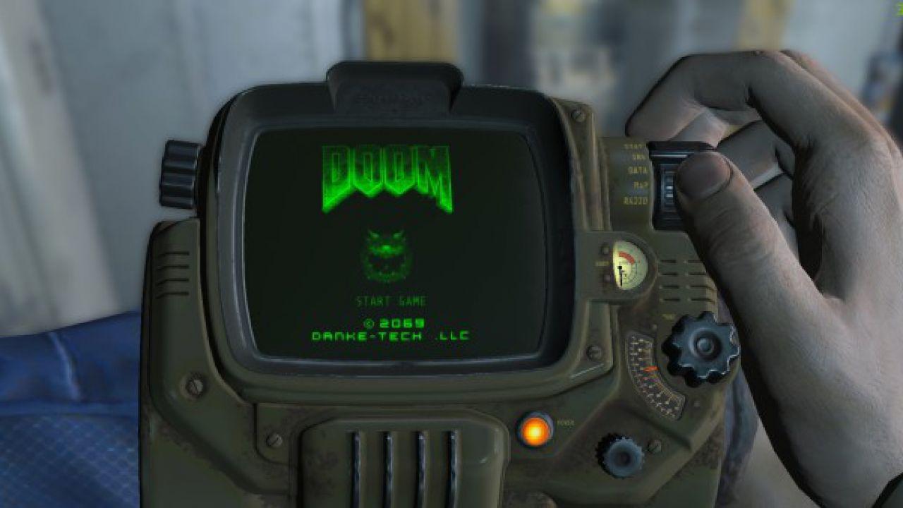 Fallout 4: una mod permette di giocare a Doom sul Pip-Boy