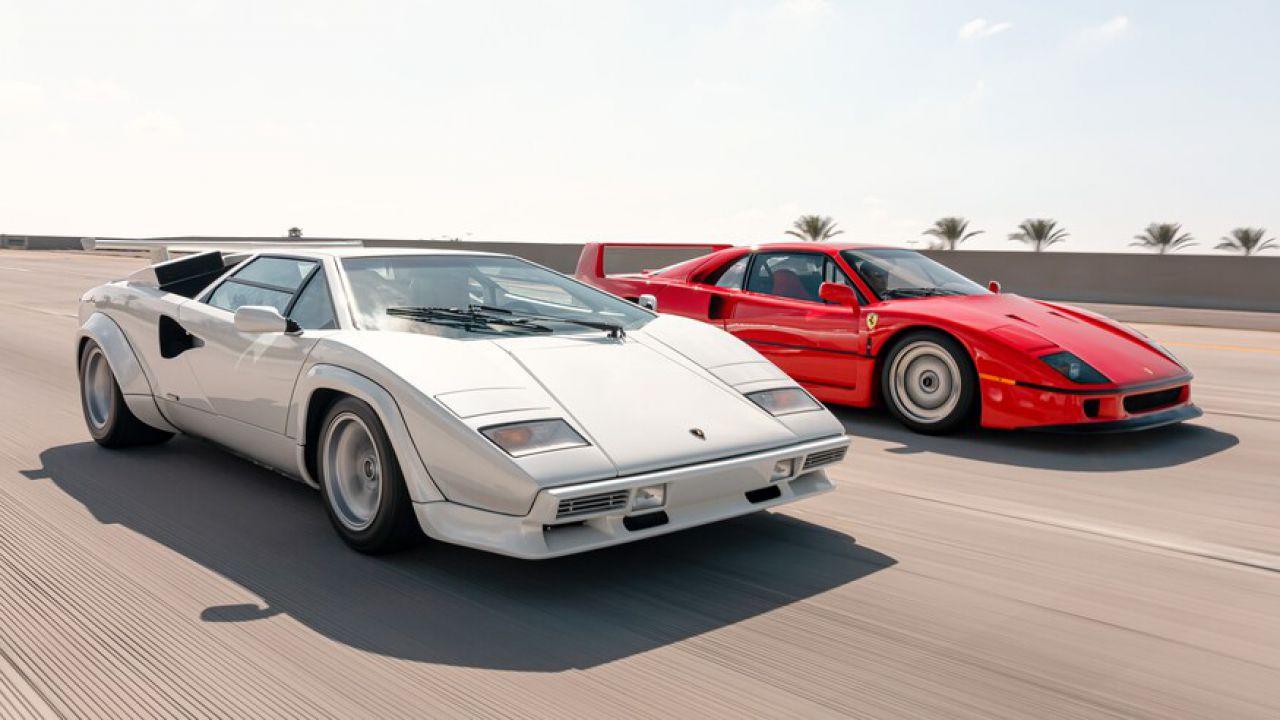 Ferrari F40 contro Lamborghini Countach: in questo video si riaccende l'epica sfida