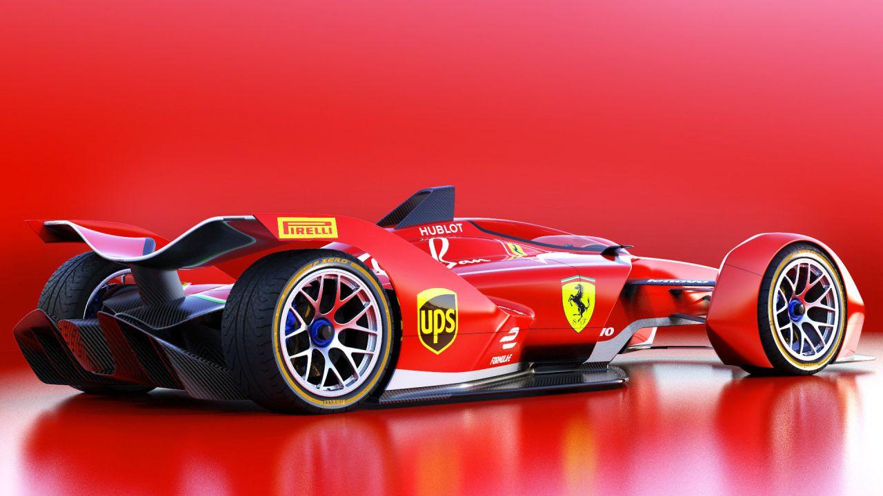 Ferrari: un render ci mostra un'ipotetica monoposto di Formula E