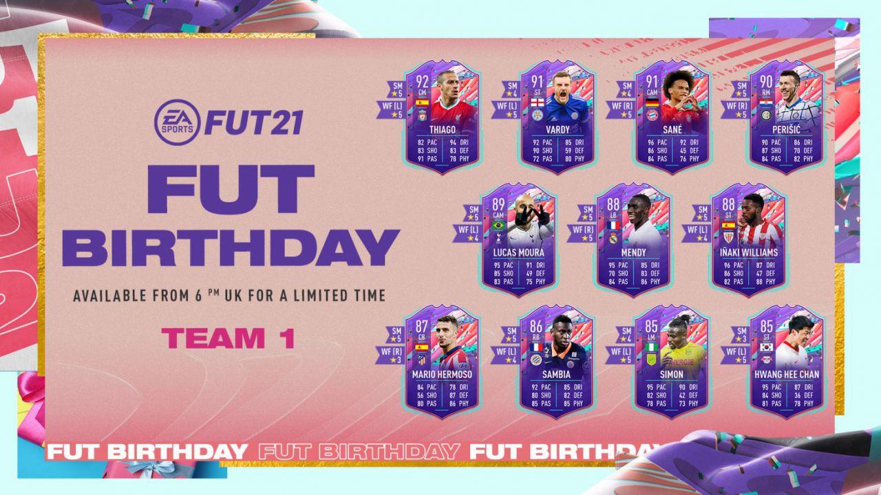 FIFA 21 FUT Birthday: disponibili il Team 1 e i premi fedeltà per tutti i giocatori