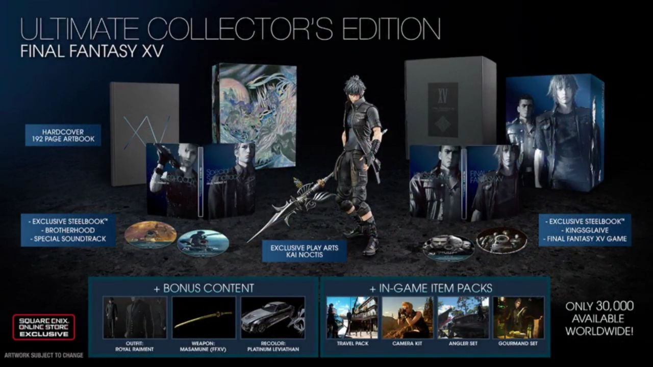Final Fantasy 15: svelate due edizioni speciali a tiratura limitata