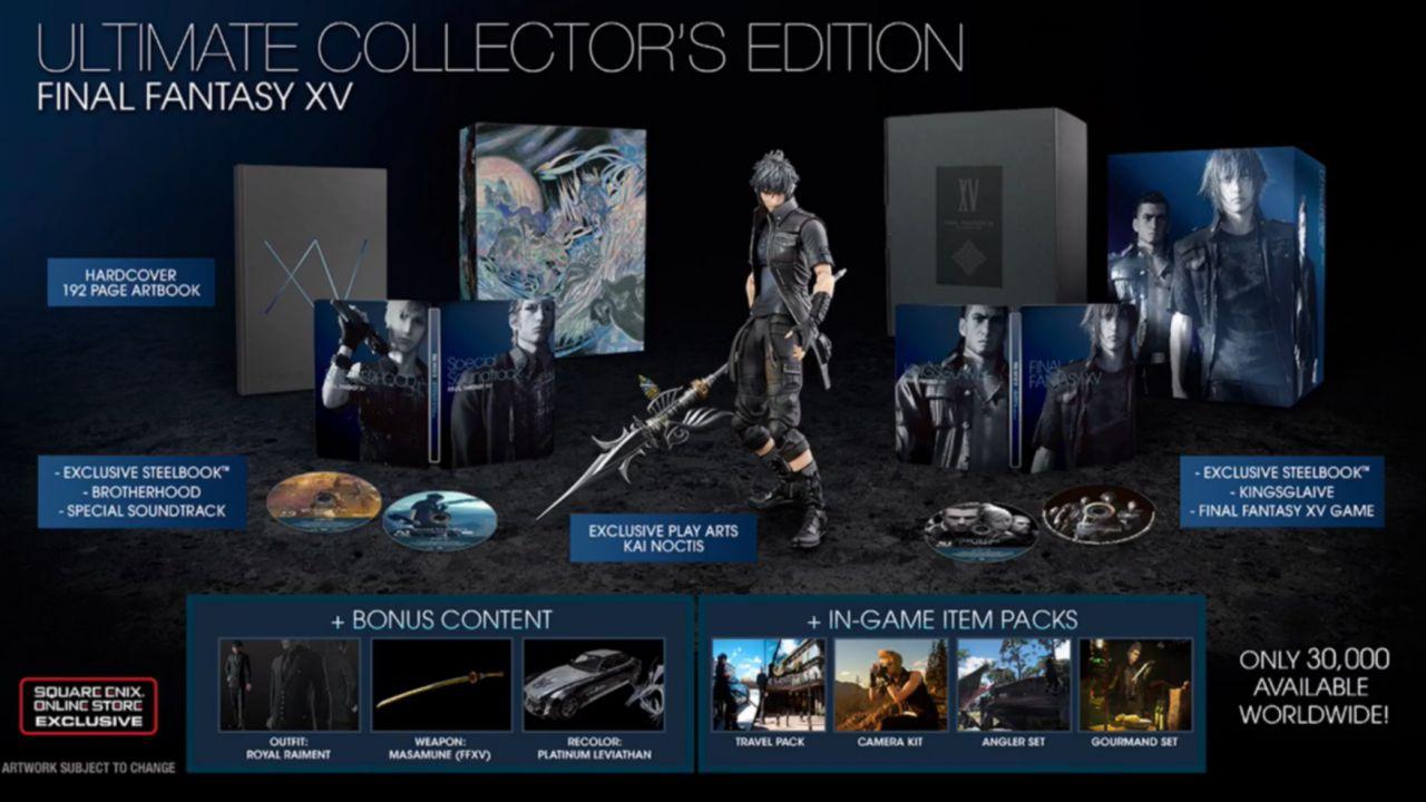 Final Fantasy 15 Ultimate Collector's Edition in vendita su eBay a prezzi superiori ai 600 dollari