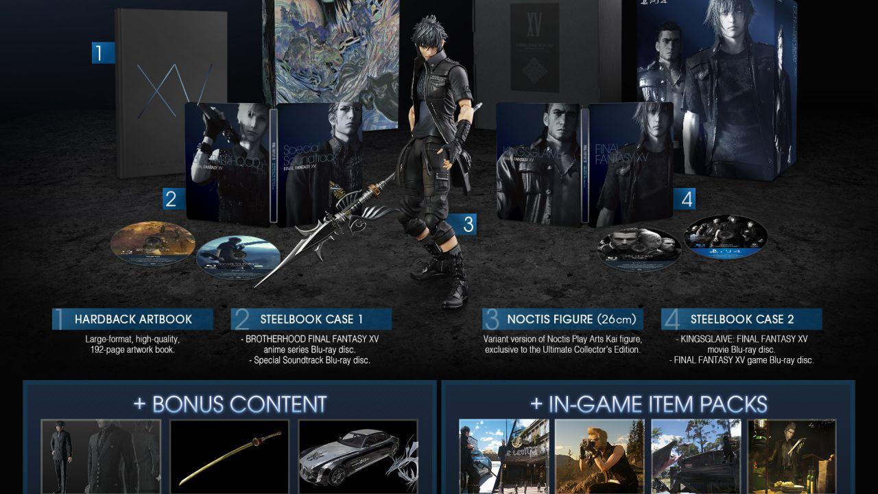 Final Fantasy XV Ultimate Collector's Edition: altre 10.000 copie disponibili da lunedì