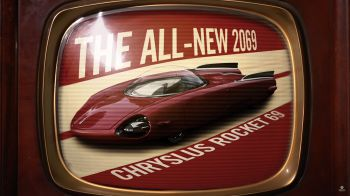 Forza Motorsport 6: Le linee retro-futuristiche della Chryslus Rocket 69 di Fallout 4 scendono in pista