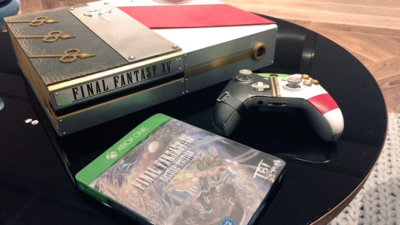 Foto della Xbox One personalizzata a tema Final Fantasy XV