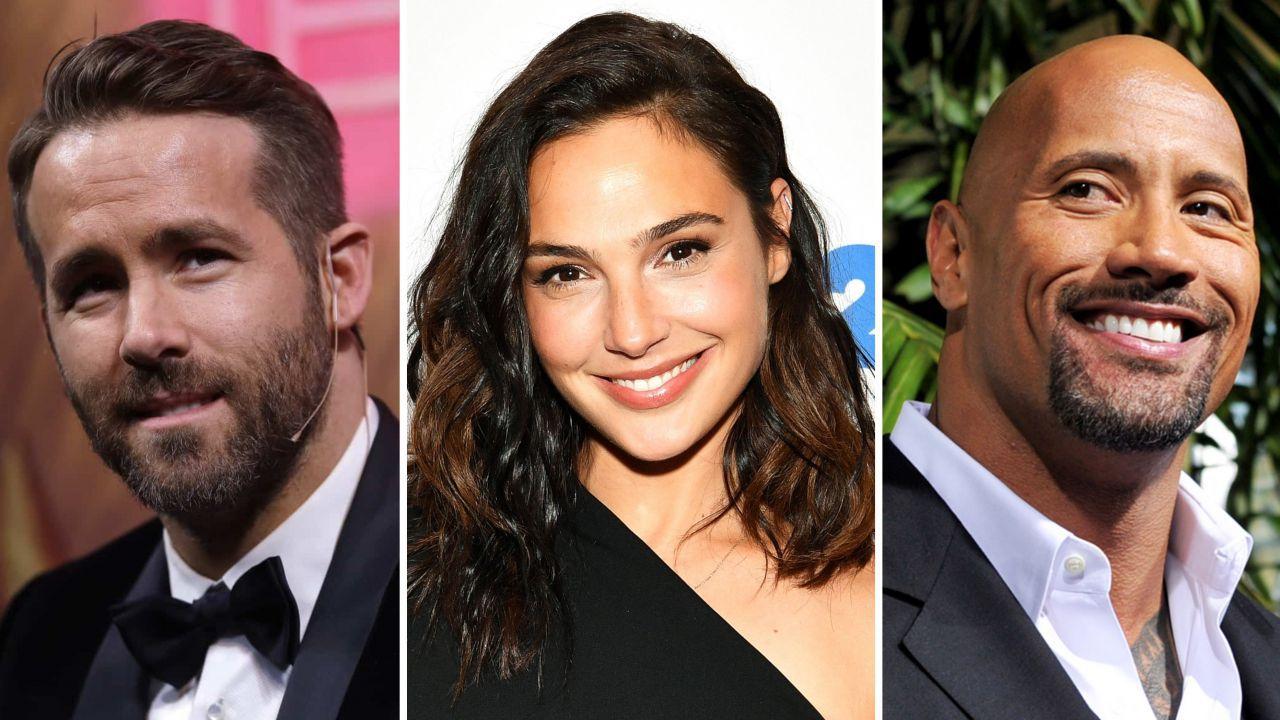 Gal Gadot, Ryan Reynolds e The Rock: le star si mostrano sul set di Red Notice