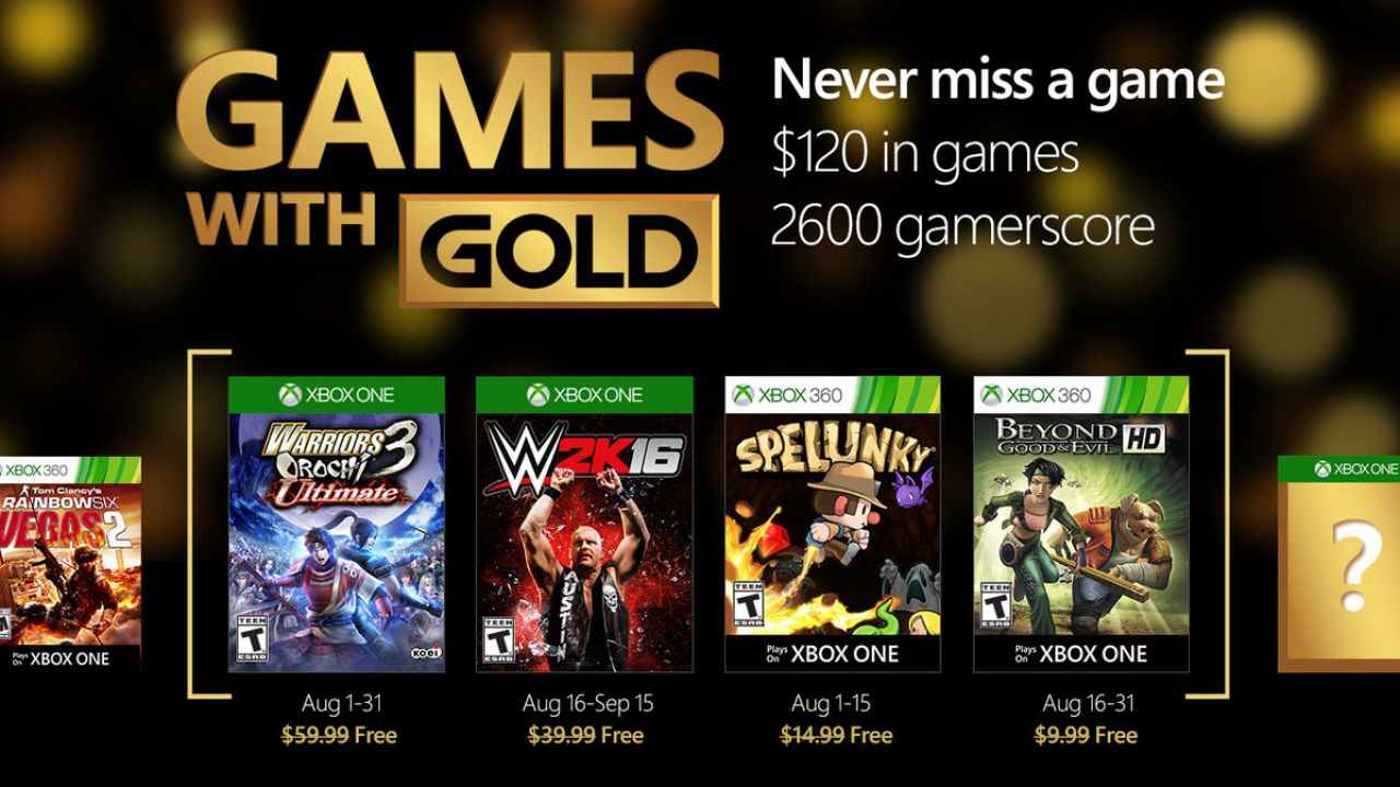 Games with Gold: WWE 2K16 e Beyond Good & Evil disponibili per il download