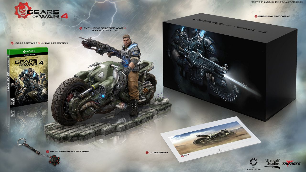 Gears of War 4: Collector's Edition da 250 dollari compare su Amazon