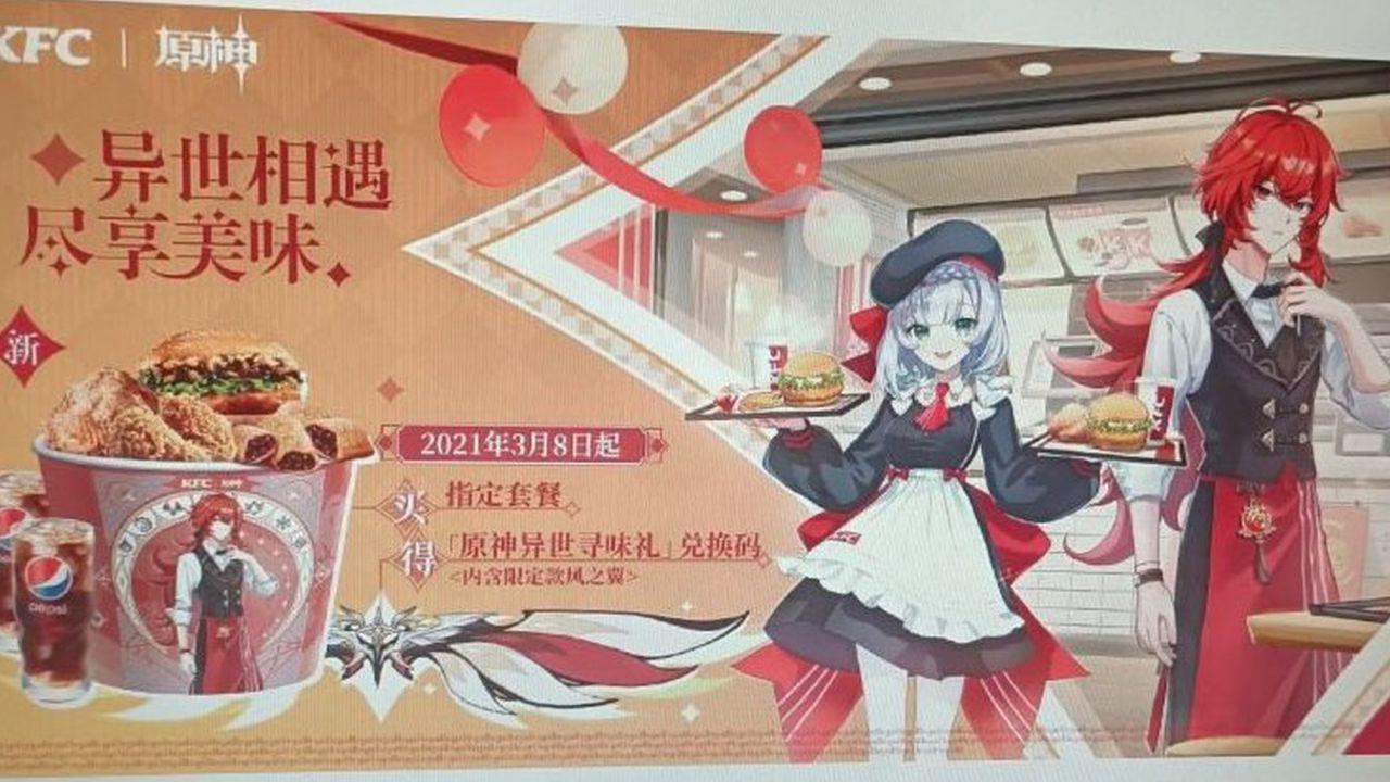 Genshin Impact X KFC: in arrivo la collaborazione con la celebre catena
