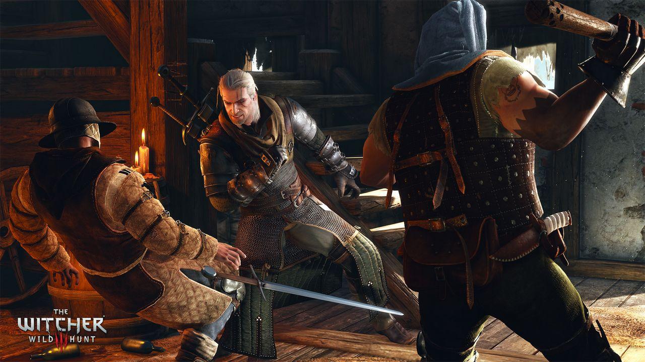 Geralt combatte con un ciclope in queste immagini di The Witcher 3 Wild Hunt