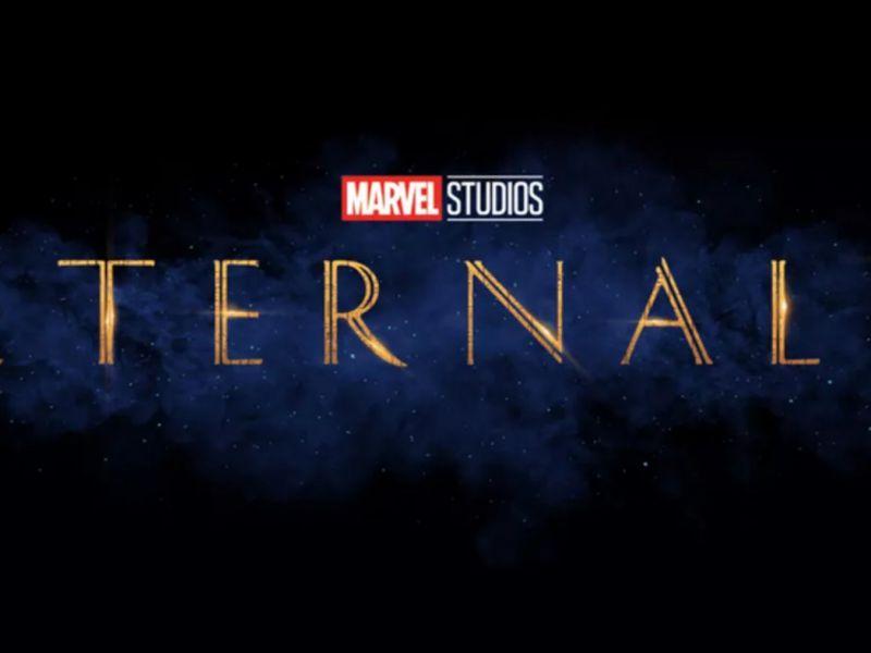 Gli Eterni: Salma Hayek e Kit Harington in una foto dietro le quinte del film Marvel