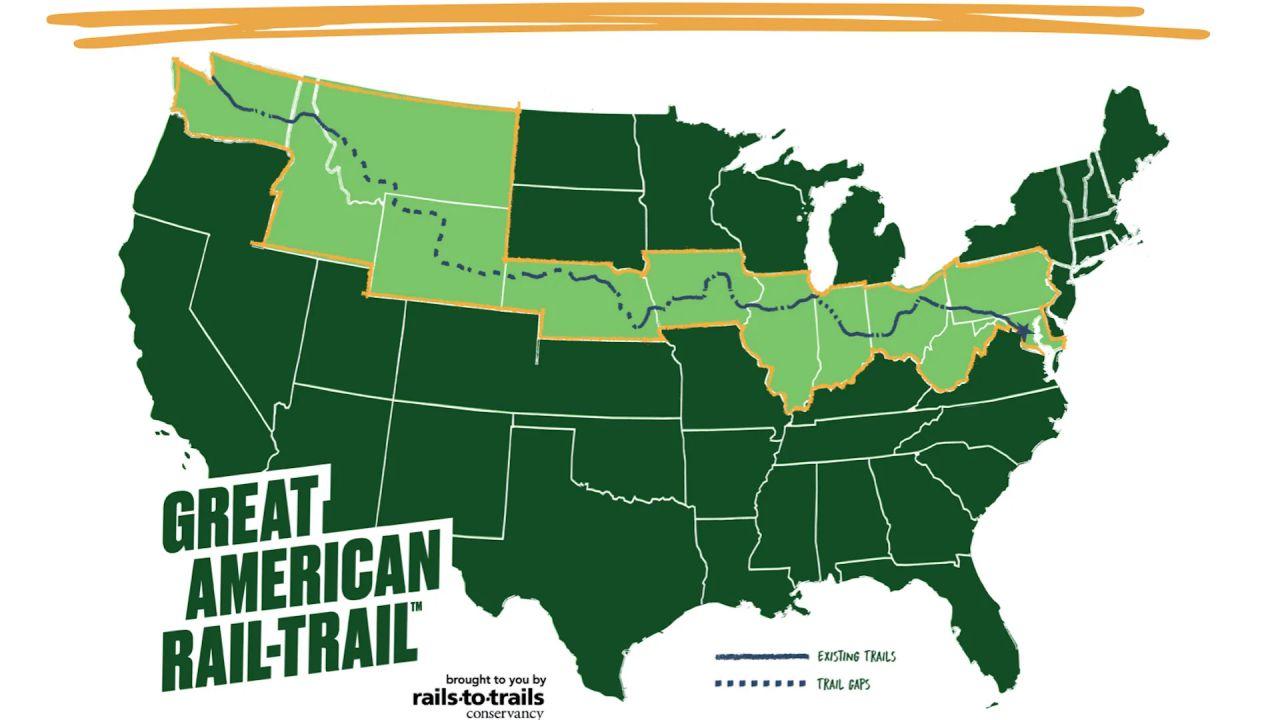 Gli Stati Uniti si attraversano in bicicletta grazie a una pista ciclabile lunga 5.900 km