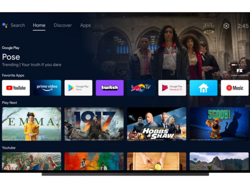 Google aggiorna Android TV: avrà tre nuove schede e UI simile a Google TV