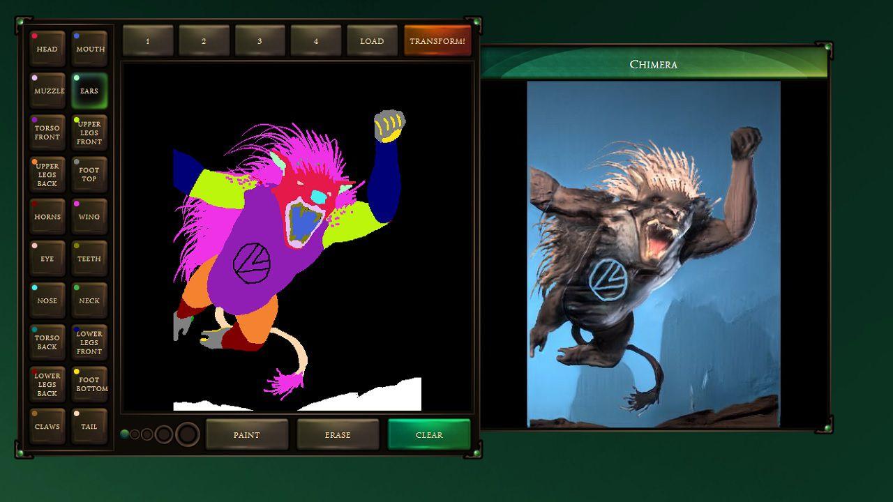 Google Chimera Painter disponibile: i mostri per i videogiochi si disegnano come su Paint