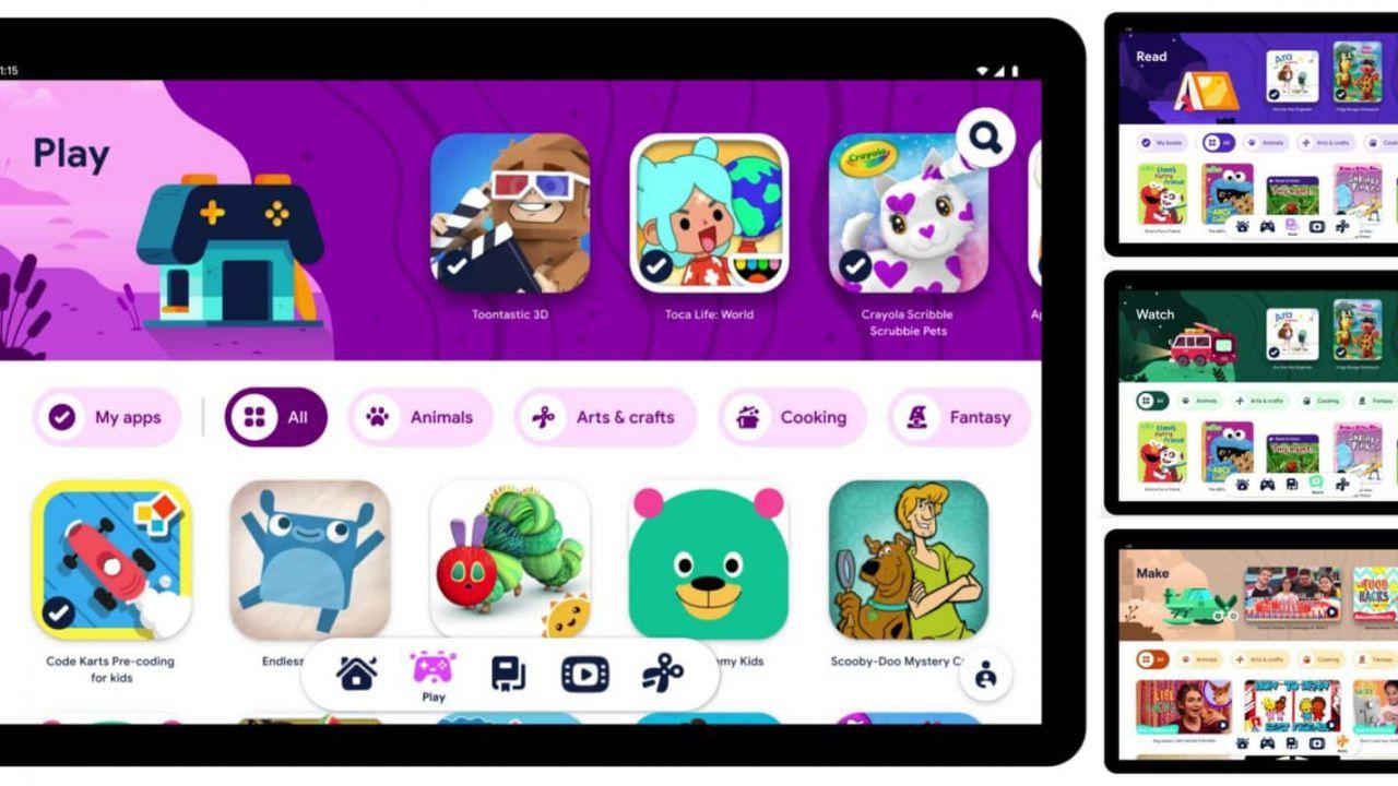 Google pensa alla sicurezza dei bambini: lanciato Kids Space su tablet Android