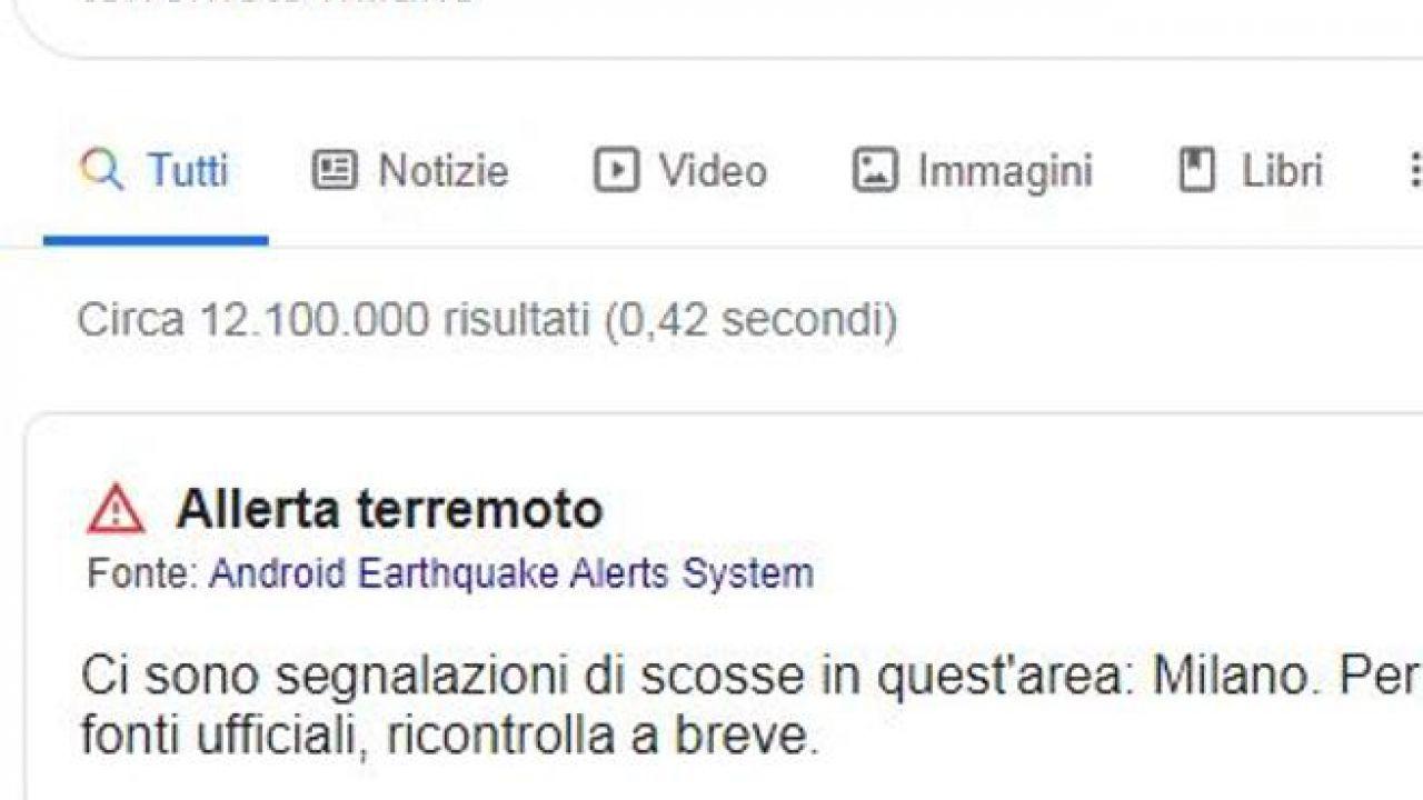 Google ha rilevato la scossa di terremoto di Milano con gli smartphone Android