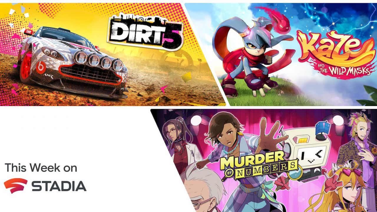 Google Stadia, i nuovi giochi della settimana: DiRT 5 arriva a sorpresa!