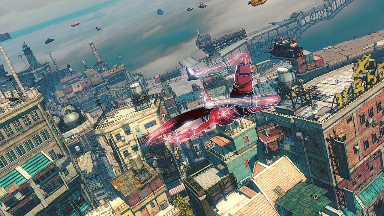 Gravity Rush 2: Gameplay del potere gravitazionale di Kat