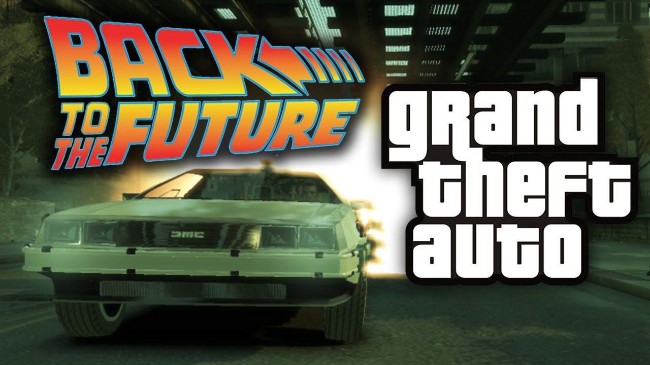GTA 5: una scena di Ritorno al Futuro ricreata con il Rockstar Editor